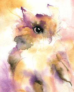 Owl Painting  Owl Art  Watercolor 11x14 by DustyShamrockStudio, $35.00