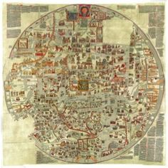 The Ebstorf Map is an example of a mappa mundi (a Medieval European map of the world) similar to the Hereford Map. It was made by Gervase of Ebstorf, who was possibly the same man as Gervase of Tilbury, some time in the thirteenth century.