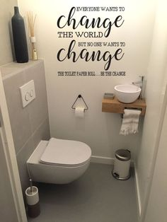 Space Saving Toilet Design for Small Bathroom - Home to Z Space Saving Toilet, Small Toilet Room, Guest Toilet, Downstairs Toilet, Small Toilet Design, Ikea Toilet, Toilet With Sink, Cloakroom Toilet Small, Toilet Paper