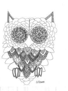 Owl Print: by Angelina bowen $30.00  @Etsy