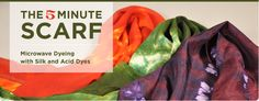 You are only 5 minutes away from having your own gorgeous silk scarf, we'll show you how!