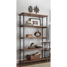 ETHAN HOME Myra Vintage Industrial Modern Rustic 40-inch Bookcase | Overstock.com