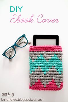 FUNDA EBOOK. TAPESTRY O JACQUARD CROCHET