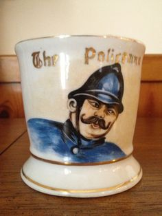 Antique Occupational Policeman Shaving Mug by rhondaezell on Etsy, $35.00