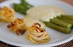 Spargel mit Sauce Hollandaise & Kartoffelnestern | vegane Rezepte in Hauptgerichte