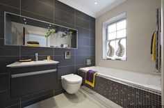 Area Tiles From Mirage Master Bathroom With Gray Tiles See More From