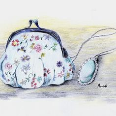 """""""Purse and Necklace"""" for SALE as a canvas print, framed print, card, pillow, mug and other products"""