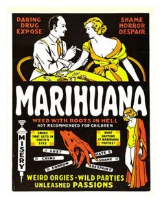 Marihuana | Retro advertising | Vintage poster