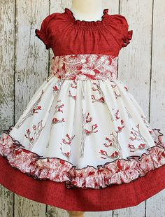 Girls Holiday Peasant Dress in Winter Berry by ItsaBowsLife Like the ruffle idea on the bottom for a little girl Baby Girl Dresses, Baby Dress, Cute Dresses, Toddler Dress, Toddler Outfits, Kids Outfits, Little Girl Outfits, Little Girl Dresses, Kids Frocks