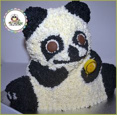 3D Panda Cake. Fresh Coffee Flavoured Cream. Especially For A Lady Who Loves Traveling To China And Spend A Lot Of Time With Pandas <3
