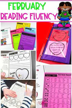 Focus on reading fluency in February. Differentiated fluency passages and activities that can be used in class or given for homework. Great for first and second grade!