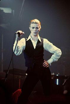 """David Bowie, Olympia Stadium, Detroit, February 1976 by Michael Marks"" David Bowie, Glam Rock, Olympia Stadium, Steve Reich, Ziggy Played Guitar, Bowie Starman, Station To Station, The Thin White Duke, Major Tom"