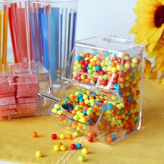 Double Decker Candy Bin from Beau-Coup! Super cute and accessible for candy table!