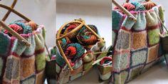 crochet then felting - lovely
