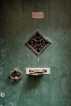 Bonassola, Italy  www.caduferra.it Old Doors, Windows And Doors, Door Knockers, Door Knobs, Knobs And Handles, Door Handles, Under Lock And Key, Door Detail, Hardware