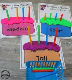 Fun Measurement Game for Kindergarten - Sort by size. #kindergartenmath #measurement