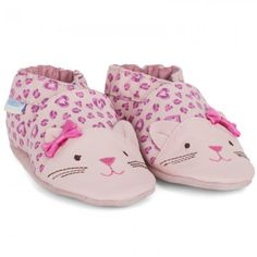 Robeez kitty pink shoes