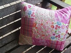 Memory pillow from baby clothes