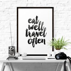 """Our printable art typography home decor downloads include a very high quality JPG sizeable up to 22"""" x 28"""" at full 300dpi resolution allowing"""