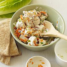 Chicken Salad with Walnuts and Grapes. I left out the carrots and celery and it was still fantastic.