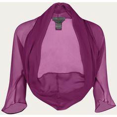 maxmara ($73) ❤ liked on Polyvore featuring outerwear, jackets, tops, bolero, blusas, bolero jacket, evening shrugs, bolero shrug cardigan, evening bolero and purple bolero shrug