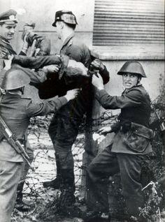 heel vaak ging het ontsnappen mis zoals deze man hij heeft de west kant van de Berlijnse muur nooit gehaald