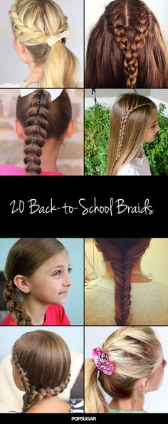Pin for Later: Our 25 Most Popular Pins of the Year 20 Back-to-School Braids If you have a school-aged daughter, these braid ideas probably made it onto one of your boards!