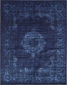 Navy Blue 8 x 10 Renaissance Rug Dark Blue Rug, Blue And White, Room Rugs, Rugs In Living Room, Persian Carpet, Persian Rug, Renaissance, Navy Rug, Textiles