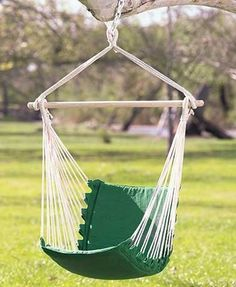 Enjoy a break from you hectic life and relax in our Swinging Chair Hammock. Hang it from a tree or on a stand (not included). Features a foam-cushioned seat and back for extra comfort. New Swinging Chair Hammock. Hammock Swing Chair, Hammock Stand, Swinging Chair, Swing Seat, Porch Swing, Rocking Chair, Hanging Furniture, Best Outdoor Furniture, Furniture Ideas