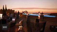 Rooftop evenings | Nakar Hotel  #designhotels #lifestylehotels #rooftop #rooftoppool
