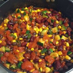 SPICY Vegetarian Chili, 267 calories!! #healthy #food