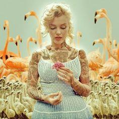 Celebridades Icónicas Tatuadas en Photoshop por Cheyenne Randall | FuriaMag | Arts Magazine