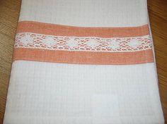anitac / Utierka oranž s čipkou 2ks 60x45 cm