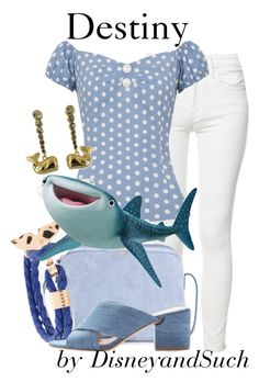 """""""Destiny"""" by disneyandsuch ❤ liked on Polyvore featuring Mother, Collectif, The Row, Disney Pixar Finding Dory, Sigerson Morrison, disney, disneybound, FindingDory and WhereIsMySuperSuit"""