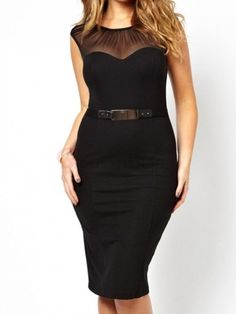 Sleeveless Solid Color Women's Bodycon Dress