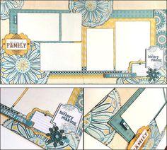 FAMILLE « L'amour de la famille » Layout - ensemble de pages de Scrapbook Premade 12 x 12