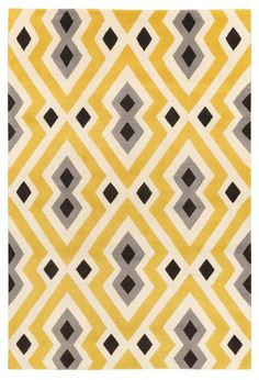 Syrie Yellow by Jonathan Adler. Hand-knotted Tibetan wool