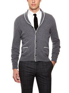 Shawl Collar Cardigan by Luca Roda