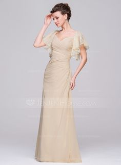 US  126.99  A-Line Princess Sweetheart Floor-Length Chiffon Mother of the Bride  Dress With Ruffle - JenJenHouse 167147de6c65