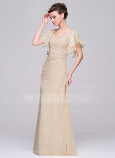 583480fa5e31e [US$ 126.99] A-Line/Princess Sweetheart Floor-Length Chiffon Mother of the Bride  Dress With Ruffle - JenJenHouse