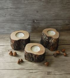 Christmas Gift Rustic Candle Holders Tree Branch Candle