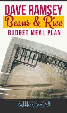 Totally going to try these cheap beans and rice recipes!!! If you're doing the Dave Ramsey baby steps you should try this meal plan too!!!! YUM!