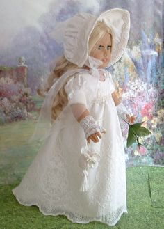 """Lady Jane Silk Regency Gown and Bonnet for Caroline 