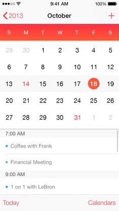 Calendar App by TJ Weigel