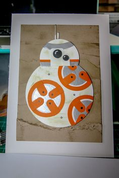 Star Wars Punch Art BB8 Paper Punch Art, Punch Art Cards, Card Making Inspiration, Making Ideas, Star Wars Crafts, Nerd Crafts, Birthday Cards For Boys, Hand Stamped Cards, Kids Cards