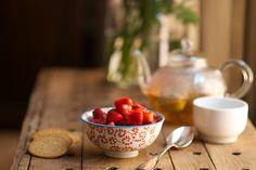 berries + green tea