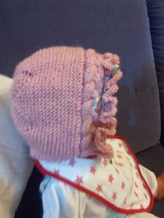 Unique: Tutorial Capota de bebe Baby Hats Knitting, Baby Knitting Patterns, Knitted Hats, Bebe Baby, Knit Crochet, Beanie, Handmade, Mary, Beanie Babies
