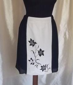 knee-length skirt and hand painted elegant skirt by modafranca