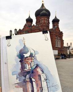Sketch by Kristina Gavrilova @xtina_gavrilova_art in Instagram #aquarell #art #painting #watercolor #watercolour #sketch #paint #drawing #sketching #sketchbook #travelbook #archisketcher #sketchaday #sketchwalker #sketchcollector #traveldiary #topcreator #usk #urbansketch #urbansketchers #скетчбук #скетч #скетчинг #pleinair #aquarelle #watercolorsketch #usk #architecture #painting #illustration