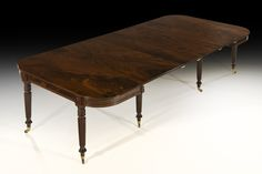 Regency Flamed Mahogany Telescopic Extending Dining Table in the style of Gillow